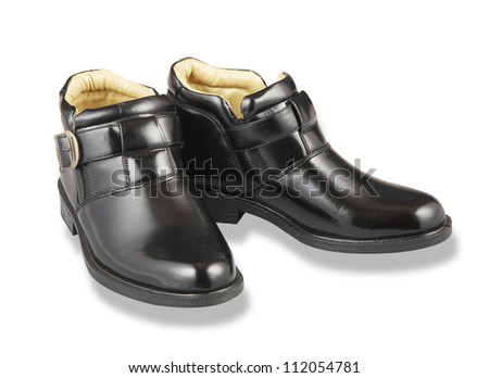 stock image of the leather shoe isolated on white