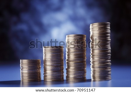 stock image of the money growth