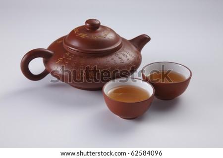 stock image of the oriental tea  pot