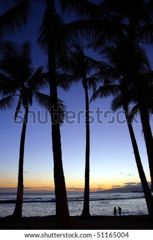 Stock image of Waikiki Beach, Honolulu, Oahu, Hawaii