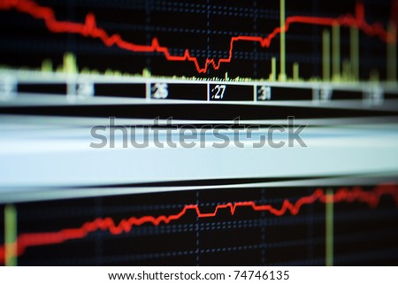 Stock index on the monitor