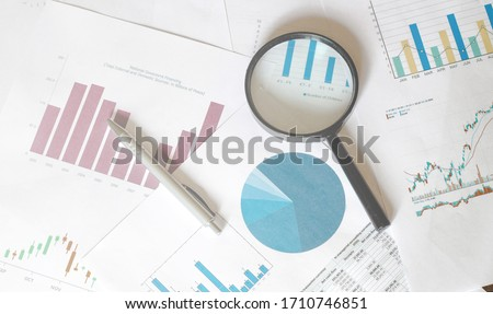 Stock Market Analysis magnifier graphics business