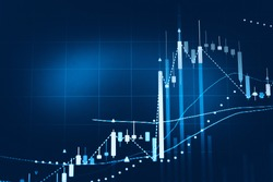 Stock market chart. Business graph background. Forex trading business.