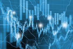 stock market chart, forex trading screen