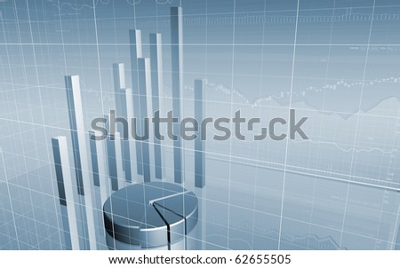 Stock Market Chart/Graph & Bar Charts/For Presentations and Annual Reports