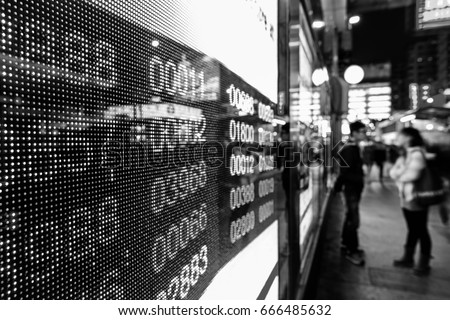 Stock market charts  (Black and White)