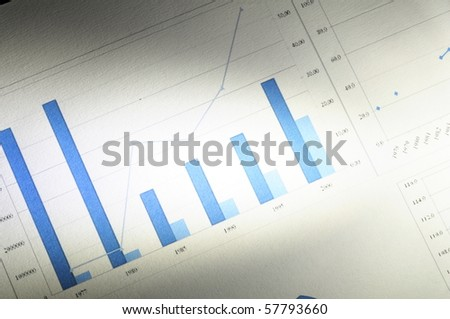 stock market concept with financial graph showing success in business