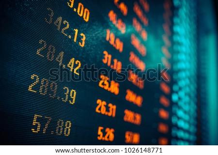Stock market data in big screen