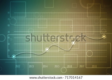 Stock Market Graph and Bar Chart, 2d illustration Business graph background #717014167