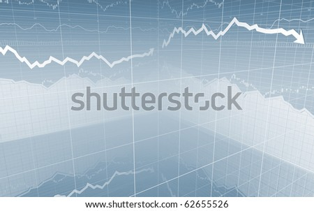 Stock Market Graph & Bar Charts
