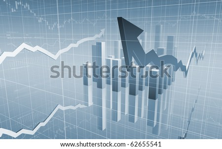 Stock Market Graph with arrows