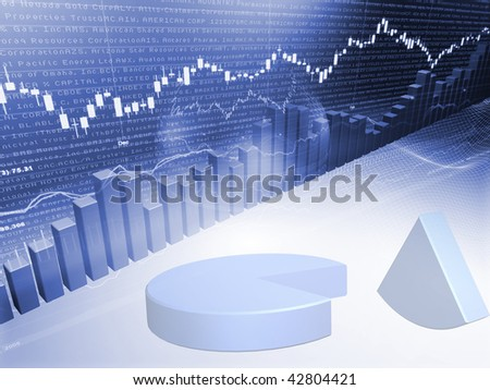 Stock Market Graph with Pie Chart