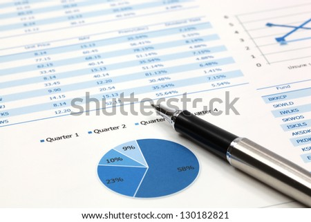 Stock market graphs analysis report