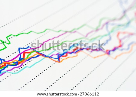 Stock market graphs background.