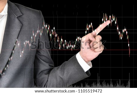 Stock market or forex trading graph and candlestick chart suitable for financial investment concept. Economy trends background for business idea, Short-term investment- long-term investment.