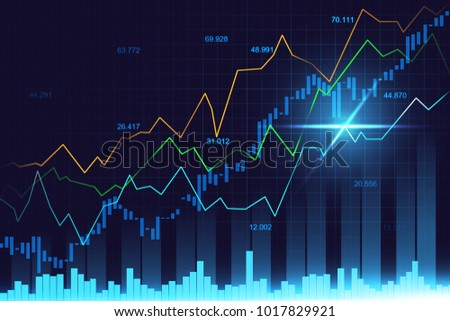 Stock market or forex trading graph in graphic concept suitable for financial investment or Economic trends business idea and all art work design for Abstract finance background cover banner