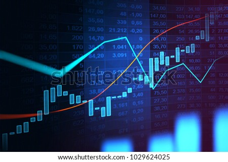 Stock market or forex trading graph in graphic concept suitable for financial investment or Economic trends business idea and all art work design. Abstract finance background