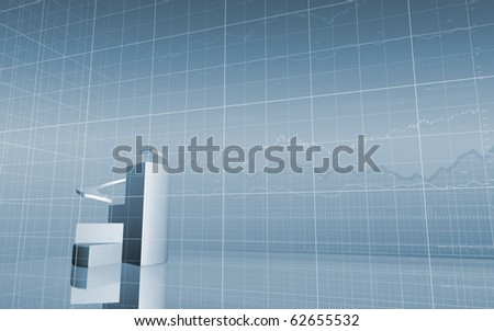 Stock Market Pie Chart - stock photo