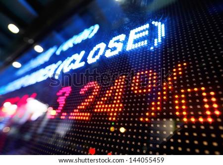 Stock market price display - stock photo