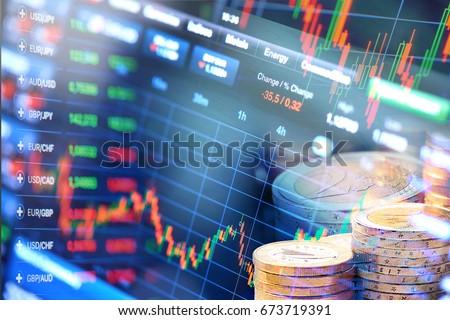 stock market, trade graph