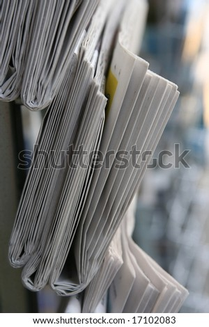 Stock of newspaper  close up