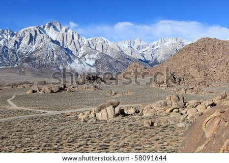 Stock Photo:  Alabama Hills, Sierra Nevada Mountains, California, USA
