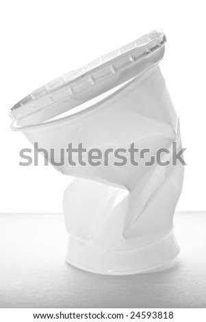 Stock photo: an image of a big white plastic cup