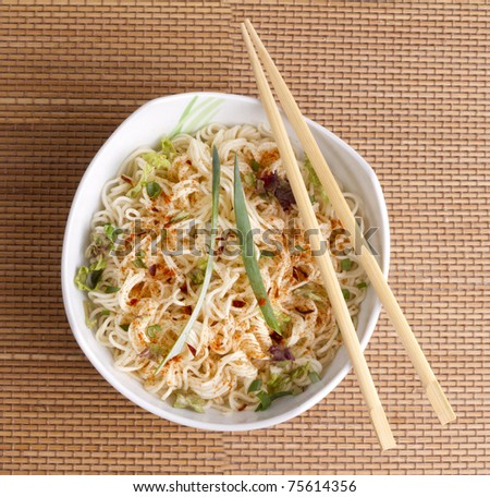 Stock Photo: asian noodle soup