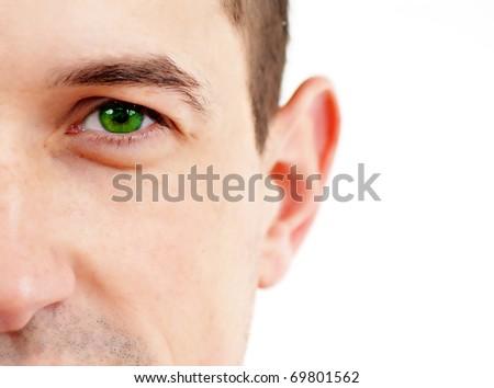 Stock Photo: Closeup of a beautiful green eye