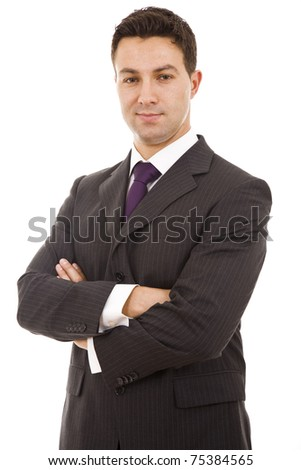 Stock Photo: Portrait of a business man isolated on white background