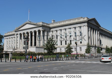 Stock Photo:  The Treasury Department in Washington DC
