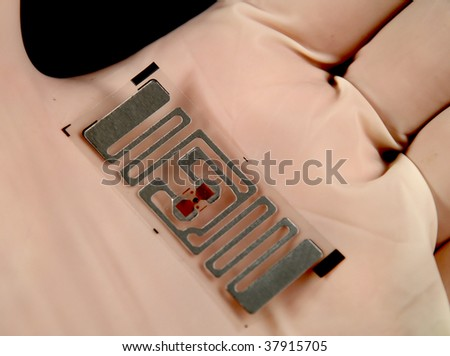 stock picture of wireless tags used for rfid purposes