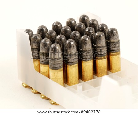stock pictures of bullets for use in a rifle or gun - stock photo