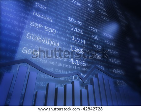 Stock Quotes on Data Background