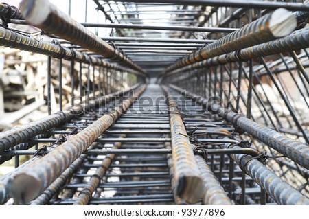 Stock rebar at construction