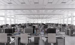 Stock trading center. Mixed media