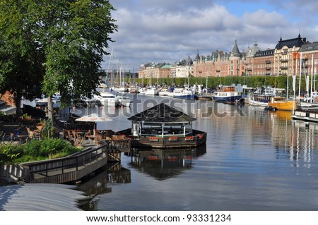 stockholm, capital of sweden, with its monuments, palace and castle