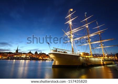 Stockholm City at night