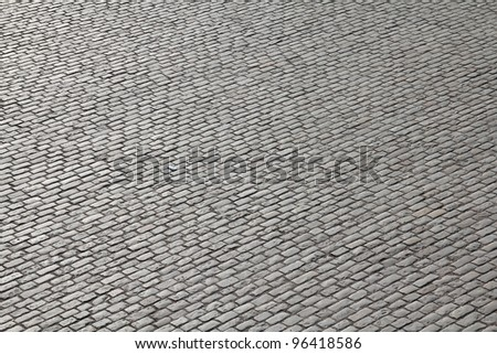 Stockholm, Sweden. Cobblestone background texture. Cobbled square in Gamla Stan (the Old Town).