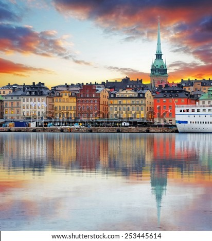 stockholm  sweden   panorama of ...