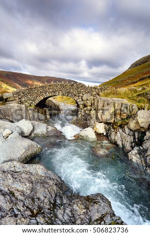 Stockley Bridge in the Lake District National Park in Cumbria #506823736