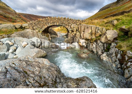 Stockley Bridge near Allerdale in the Lake District National Park in Cumbria #628521416