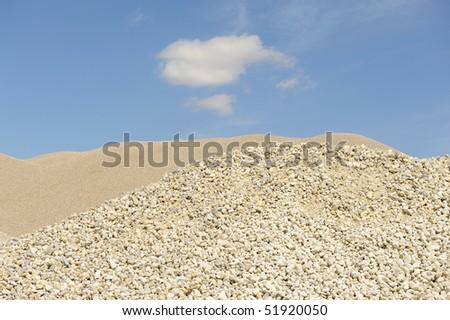 stockpile of pebbles