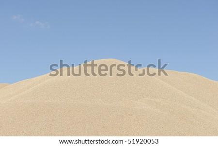 stockpile of sand