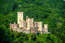 Stolzenfels Castle at Rhine Valley (Rhine Gorge) near Koblenz, Germany. Built in 1842.