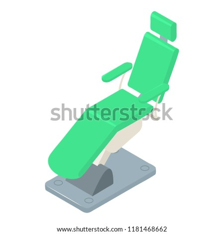 Stomatology chair icon. Isometric of stomatology chair icon for web design isolated on white background