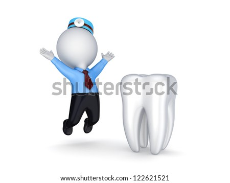 Stomatology concept.Isolated on white background.3d rendered.