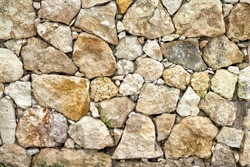 Stone and coral wall texture. Caribbean.