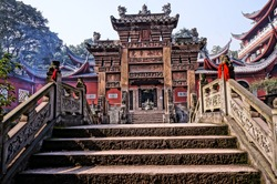 Stone arch in the temple, Chongqing, China
