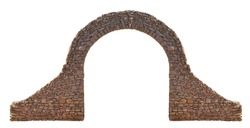 Stone arch isolated on white background.